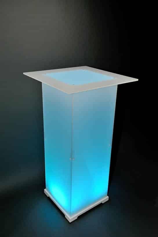 Stehtisch Plexi Opal cyan