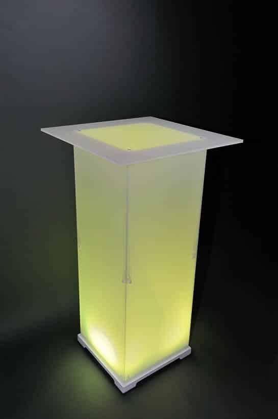 Stehtisch Plexi Opal gelb
