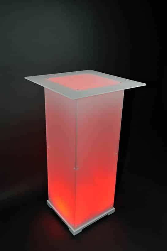 Stehtisch Plexi Opal rot